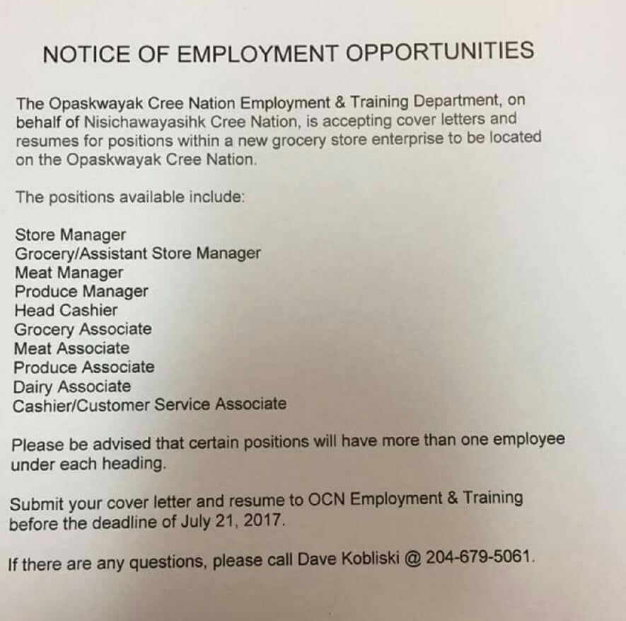 grocery store cover letter cashier